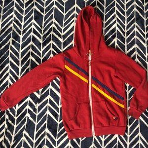 Aviator nation zip up hoodie
